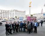 4liberty.eu team on Freedom Square in Tbilisi, Georgia