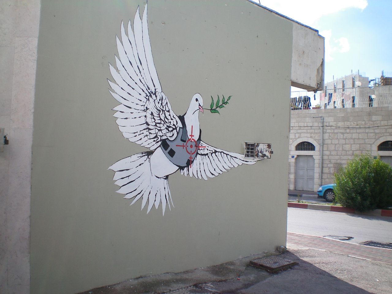 Banksy_-_Armoured_Peace_Dove
