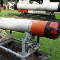 A Mk 44 Light Weight Torpedo of the Philippine Navy. Photo taken at the Armed Forces of the Philippines Museum in Camp Aguinaldo.