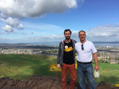 Marek Tatala and John Chisholm, Arthur's Seat, Edinburgh, Scotland || Author's own collection