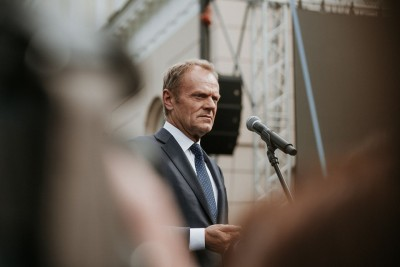 President of European Council Donald Tusk speaking during May 3rd Celebrations in Warsaw