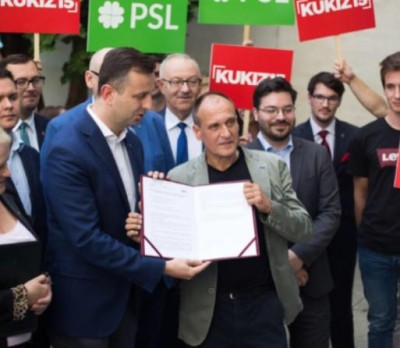 Paweł Kukiz and Władysław Kosiniak-Kamysz, the leader of the Polish Peasants Party, begin the run for the parliament in 2019. Although Kukiz lost his uniqueness and identity, he would likely win the seat // Source: PSL