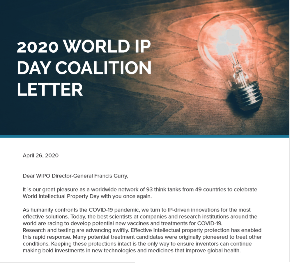 2020 World IP Day letter