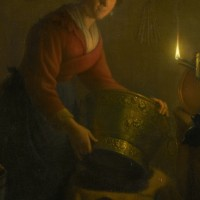 light-woman-candle-kitchen