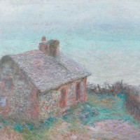 Monet house painting