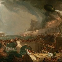 The Course of Empire — Desolation by Thomas Cole-uncertainty